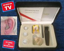 NUOVO Regno Unito AS Seen on TV piccolo Amplificatore Suono Orecchio in aiuto per PIU 'FORTE meglio udito