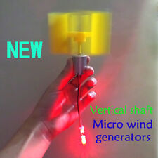 3V-5V Small DC Motor Vertical Micro Wind Turbines Blades Power Generator DIY Kit