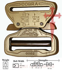 AustriAlpin Cobra 45mm Desert Sand Buckle XL Clips (riggers belt combat shooting