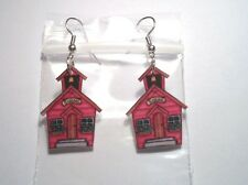 School House Earrings Charms