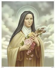 """Catholic Print Picture St. Therese of Lisieux Little Flower 8x10"""" ready to frame"""