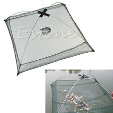 Folded Fishing Net Fish Shrimp Minnow Crab Baits Cast Mesh Trap New