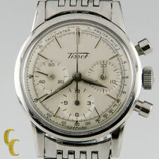 Vintage Men's Stainless Steel Tissot Chronograph Mvmt 1281 with Subdials
