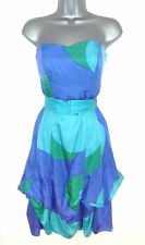 Stunning Coast Silk Mix Strapless Parachute Evening Occasion Dress 10