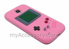 For Samsung Galaxy S4 S 4 IV Pink Lt Game Boy 3D Silicone Rubber Skin Phone Case