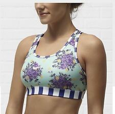 NIke Air Womens Sz SMALL New Floral Print Sports Bra Workout Top Ships Free