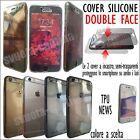 CUSTODIA COVER GOMMA TPU SILICONE DOUBLE FACE 0,3mm PER Samsung Galaxy S6