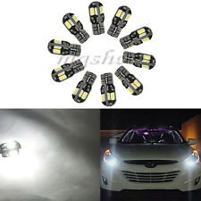 10 x Canbus T10 194 168 W5W 5730 8 LED SMD White Car Side Wedge Light Lamp Bulb