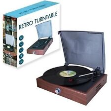 NICE RETRO DESIGN WOOD EFFECT USB VINYL/RECORD TURNTABLE,BUILT IN SPEAKER,NEW