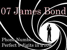 """ 07 James Bond ""numero di cellulare = incredibile 007 RARA 9 lettera wordspell telefono"