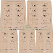"5Pcs Tattoo Practice Skin for Needle Machine Supply Eyebrow&Lips Sheets 8"" X 6"""
