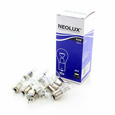 10x Genuine Neolux Large BA15S (P21W 382) 24v 21w Clear Bulbs [N241]