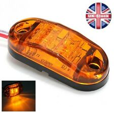 4 X 12V 2 SMD LED ORANGE AMBER MARKER LIGHTS TRUCK TRAILER LORRY INDICATOR LAMPS