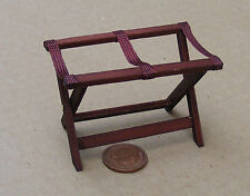 1:12 Opening Wooden Luggage Stand Dolls House Miniature Accessory