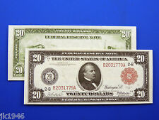 Replica $20 1914 Federal Reserve Note Red Seal US Paper Money Currency Copy