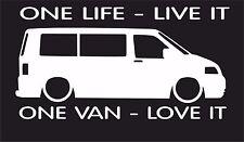 One life,One van T1 T2 T3 T4 T5  surf car JDM VW VAG EURO Vinyl Decal Sticker 4