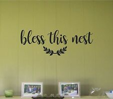 Bless This Nest  Wall Sticker Wall Art Decor Vinyl Decal Stickers Wall Quotes