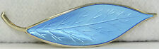 VINTAGE DAVID ANDERSEN BLUE ENAMEL LEAF PIN WILLIE WINNAESS