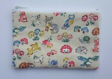 Cath Kidston Forest Animals Fabric Handmade Zippy Coin Purse Storage Pouch