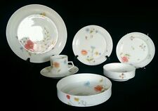 Mikasa Just Flowers 7 Piece Place Setting A4-182 China 2nd 20th Anniversary Gift