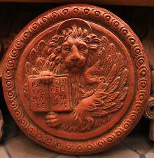 Bassorilievo leone di San Marco  in cotto refrattario da appendere 42 cm diametr