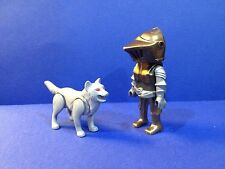 PLAYMOBIL KNIGHT WITH WOLF from Set 4807 5001 Castle Battle Armor