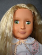 "Our Generation 18"" Doll Battat Green Eyes Blond Hair Spring Dress - Clean!"