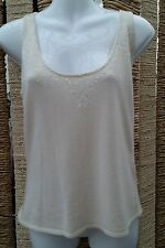 M&S LIMITED COLLECTION BNWT Cream Fine Knit Wool Mix Sleeveless Sweater Size