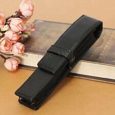Vintage Etui Stylo en PU Cuir Porte Stylo Plume Pochette Pen Sac Officiel Noir