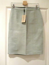 BURBERRY LEATHER PALE GREEN PENCIL SKIRT RRP £795 SIZE 6 NWT