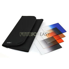 4pcs Gradual Graduated Grey Blue Brown Red Square Filter Kit for Cokin P Series