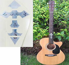 Guitar Inlay Stickers Cross Pattern Decals