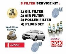 FOR LEXUS IS200 2.0i 1999-2005 SERVICE KIT OIL AIR POLLEN FILTER + 6X PLUGS SET