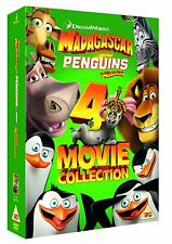 MADAGASCAR 1-3 & PENGUINS OF MADAGASCAR - 4 FILM BOX SET
