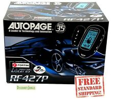 AUTOPAGE RF427P LCD 4 CHANNEL 2 WAY CAR VEHICLE ALARM SECURITY SYSTEM RF-425A