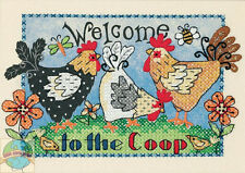 Cross Stitch Kit ~ Dimensions Welcome to the Coop Country Farm Hens #65053 SALE!
