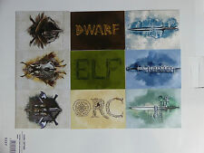 HOBBIT BATTLE OF FIVE ARMIES WEAPONS CARDS CHASE SET - HARD TO FIND