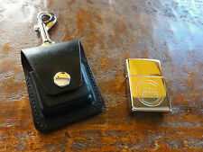 RARE! Lucky Strike Zippo Lighter Made in U.S.A. w/Leather Case & Belt Clip U.S.A