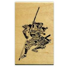 Japanese WARRIOR Samurai Mounted rubber stamp, ronin, sword No.12