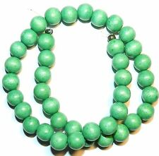 W221f Green 10mm Round Wood Beads 16""