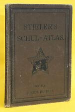 STIELERS SCHUL-ATLAS,DR.HERMANN BERGHAUS,33 KARTEN,KOMPLETT,1899