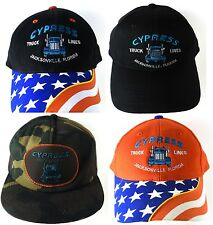 Cypress Truck Lines Lot of 4 Snapback Hats Camouflage Red Blue Jacksonville FL