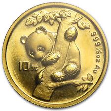 1996 China 1/10 oz Gold Panda Small Date BU (Sealed) - SKU #13412