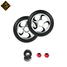 NEW 2X STORM PRO STUNT SCOOTER BLACK METAL CORE WHEELS 100mm ABEC 11 BEARING 9