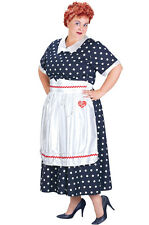 Brand New Plus Size I Love Lucy Polka Dot Dress Halloween Costume