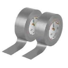 BRAND NEW 2XSilver strong Gaffa black cloth tape size :- 50mm X 50M