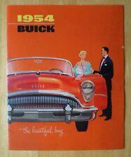 BUICK orig 1954 USA sales brochure - Roadmaster Skylark Super Century Special