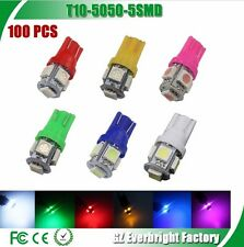 50pcs T10 red blue green color 5SMD Wedge Lamp 5050 LED Light Bulbs 12v 194 168