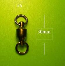 50x DFS BALL BEARING FISHING SWIVELS SIZE # 6 TEST 80KG, lures lure