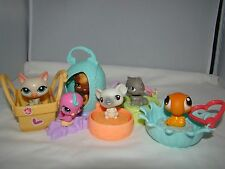Littlest Pet Shop LPS McDonalds Cat Bird Squirrel Mouse Key Chain Lot of 6